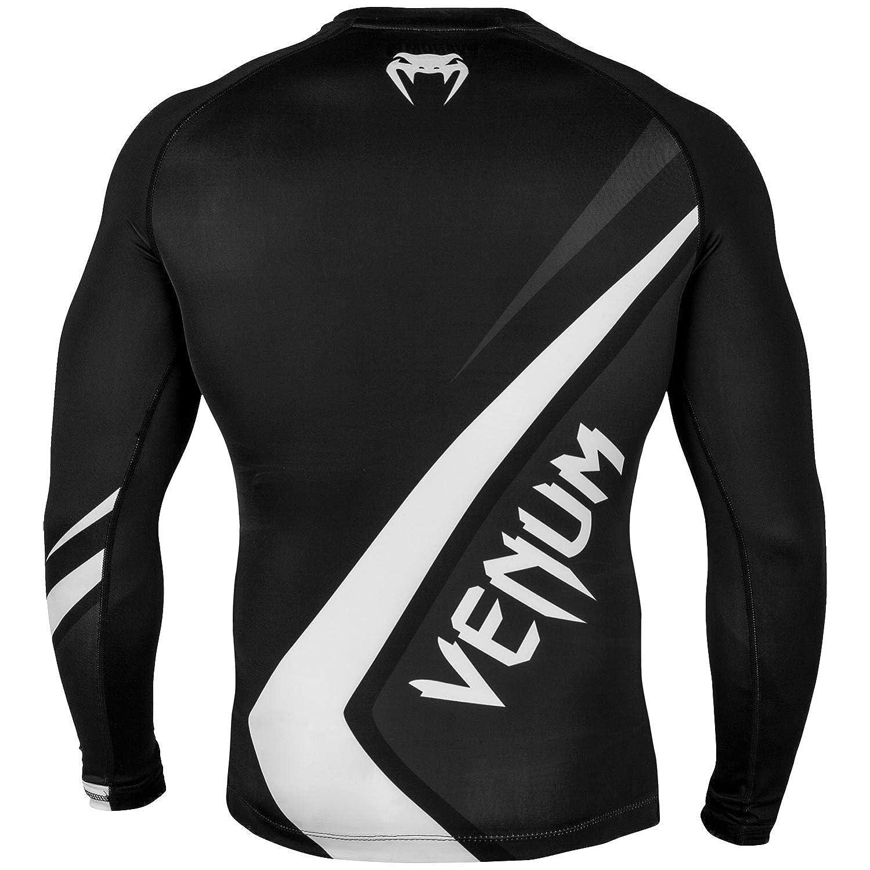 Black//Grey//White Venum Contender 4.0 Rashguard Long Sleeves Black//Grey-White-S Small