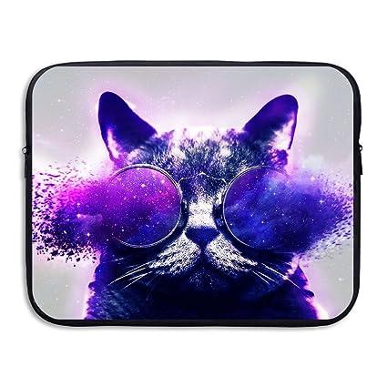 1a230628f1e0 Amazon.com: Laptop Case, Funny Cat Galaxy Sunglasses 13 Inch 15 Inch ...