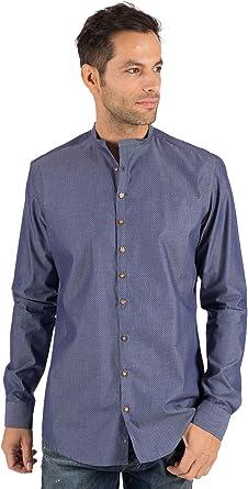 OS Trachten HOLGER - Camisa para Traje Regional (Cuello Alto ...