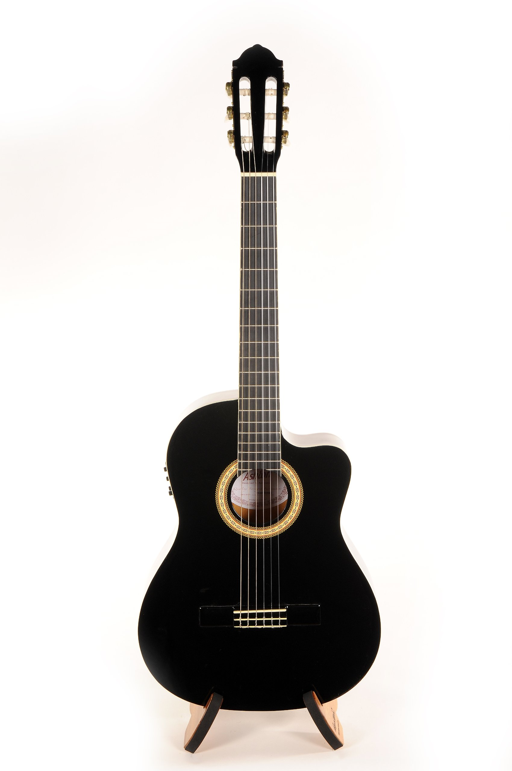Ashton CG44CEQBK Classical Guitar with Pick-Up System