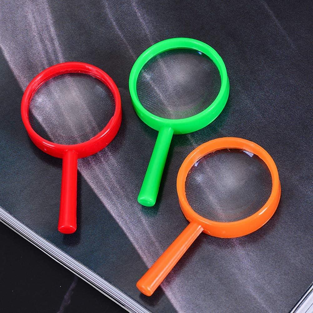 Lupas Infantiles,20 Pack Coloridas Lupas de Acr/ílico para Educativos Lupas para Estudiar Insectos para Art/ículos de Fiesta