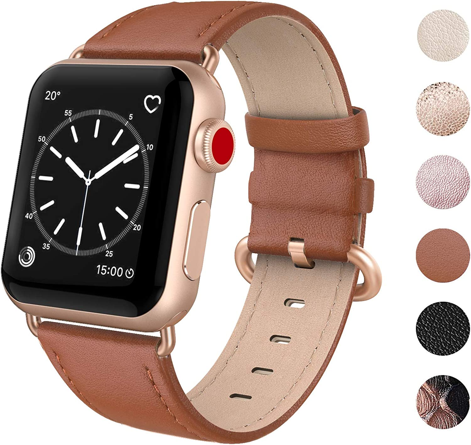 Top 10 Leather Gold Apple Watch Band 38 Mm 2