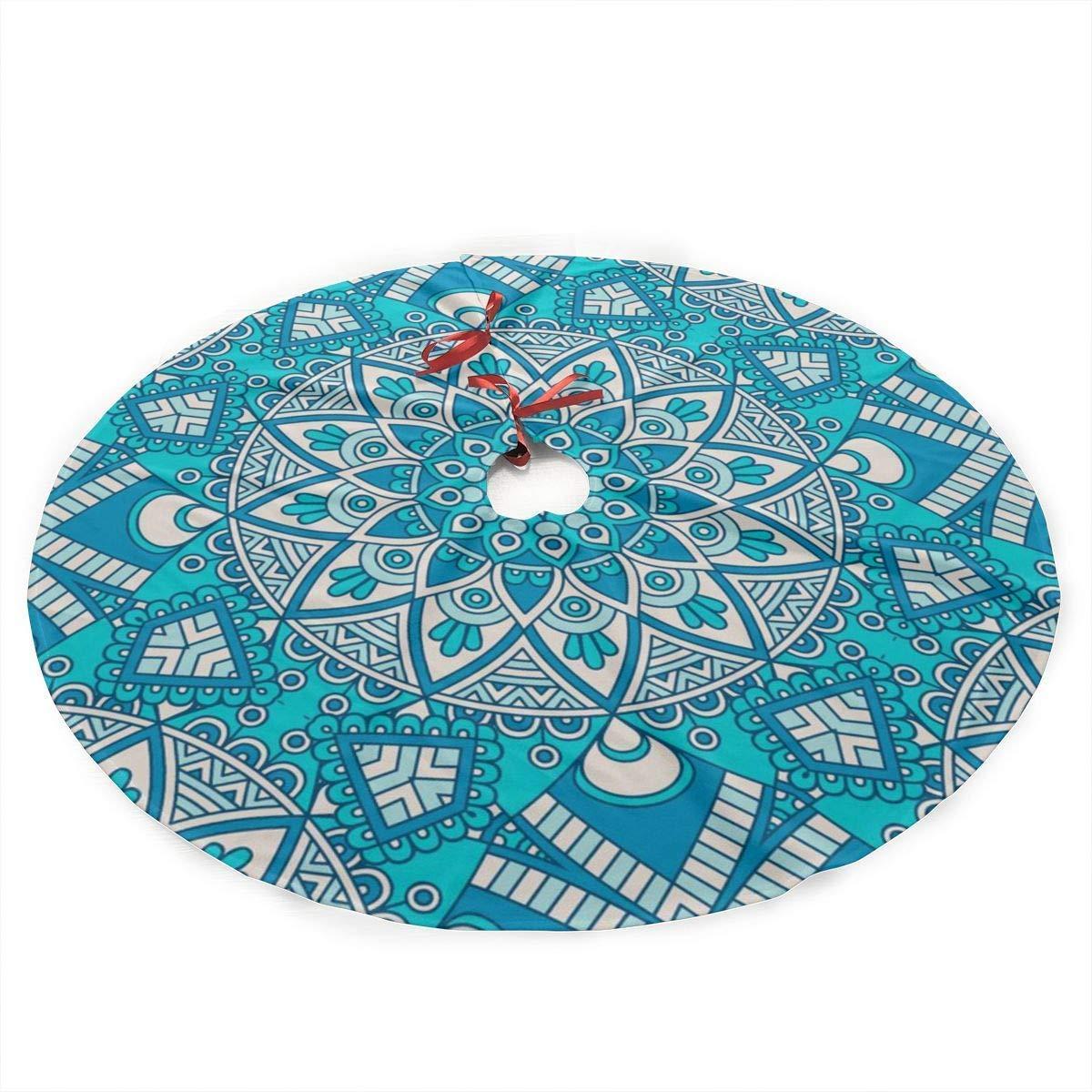 xifengquyuanyuanbaihuodian Mandala Vintage Fleurs Boho Jupe darbre De No/ël Joyeux Arbre De No/ël,Jupe darbre pour D/écoration De No/ël D/écoration de F/ête