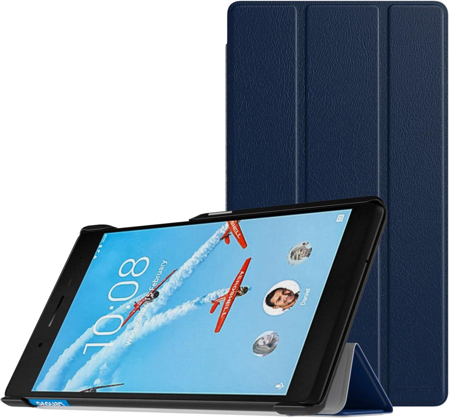 "MoKo Lenovo Tab 7 Essential Case - Ultra Compact Protection Slim Lightweight Smart Shell Stand Cover Case for Lenovo Tab 7 Essential Tablet 2017 (NOT FIT Lenovo Tab 3 Essential 7""), Indigo"