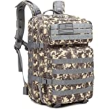 Z ZTDM 40L Outdoor Tactical Molle Backpack 3 Day Assault Pack Military Rucksacks,Bug Out Bag for School Traveling Camping Hiking Trekking,900D Waterproof