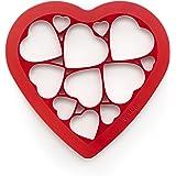 Lékué 0200160R01M017 Cutter pour Biscuits Puzzle Cœur Plastique  Multicolore 45 x 35 x 25 cm