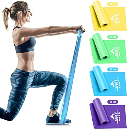 Fitness And CrossFit Workout Yoga Resistance Bands Set 5PC For Home Exercise