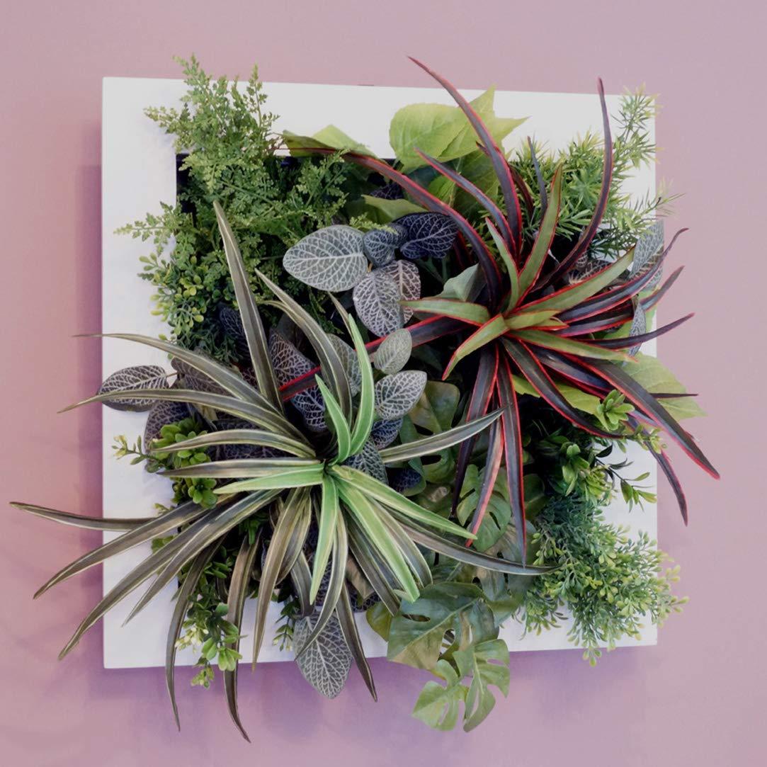 壁掛けグリーンフレームドラセナホワイト(光触媒)造花観葉植物インテリアグリーン B01HNP3VLE
