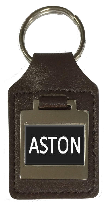 Aston Leather Keyring Birthday Name Optional Engraving