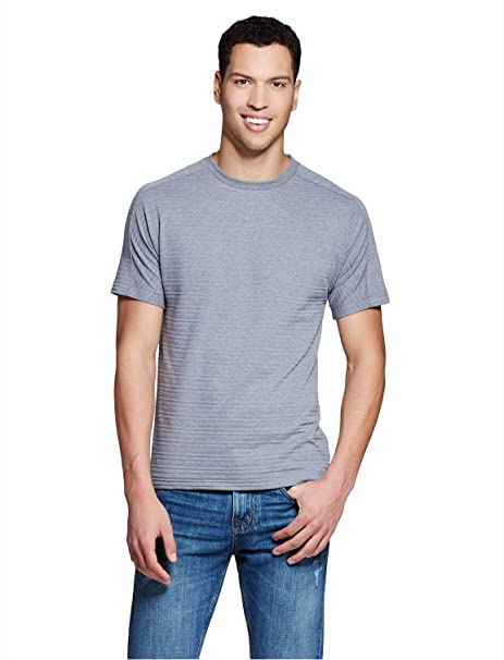 d9f3d5fe Mossimo Men's Jacquard T-Shirt Grey Large | Amazon.com