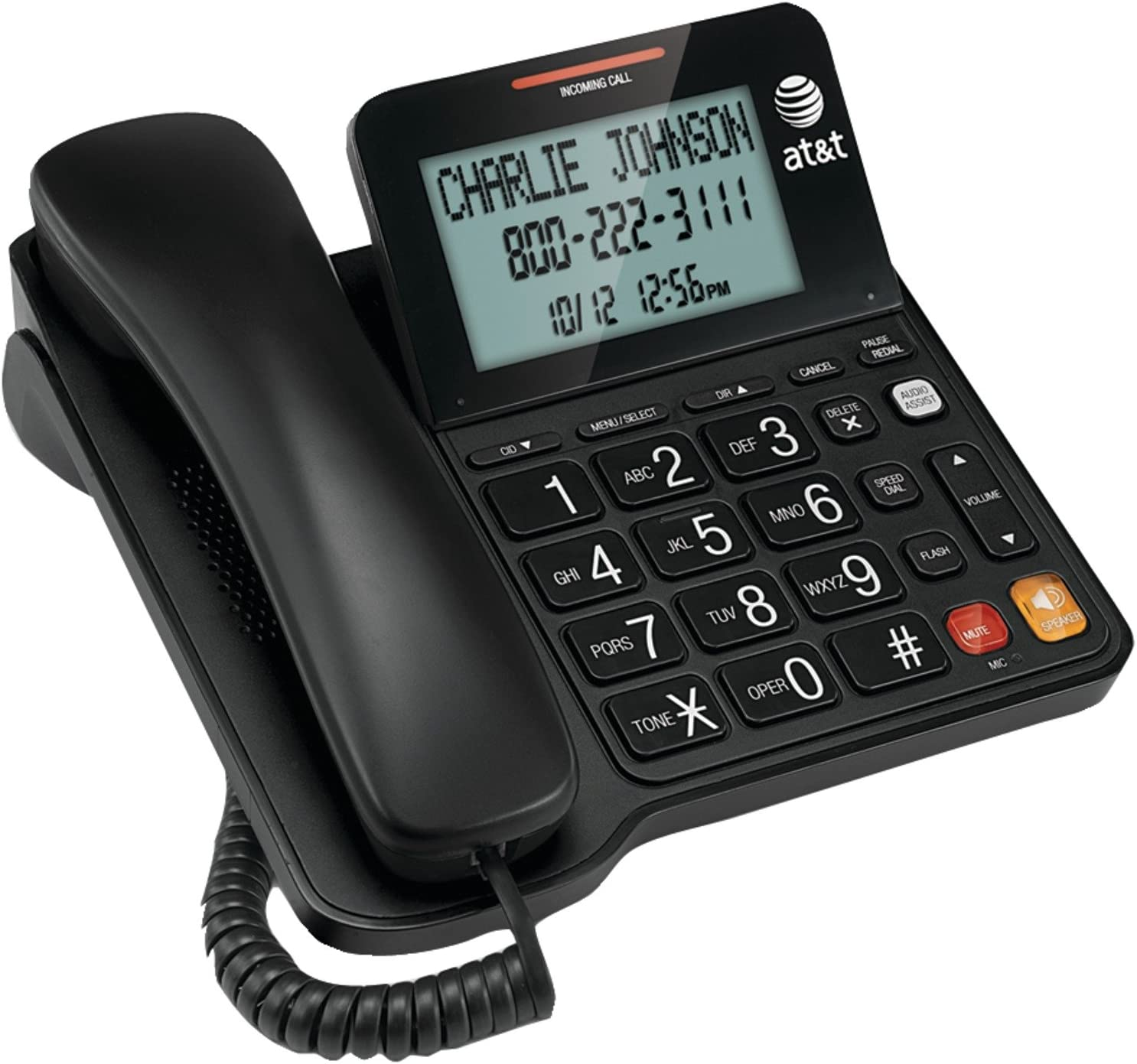 AT&T CL2940 Corded Speakerphone with Large Tilt Display