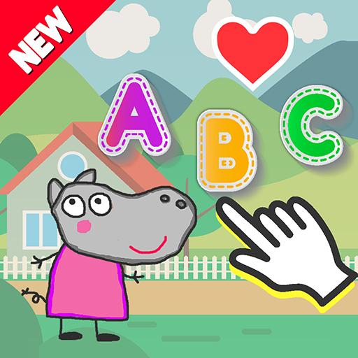 - Papa ABC Hippo Pig - Practice Alphabet Tracing Preschool Kids