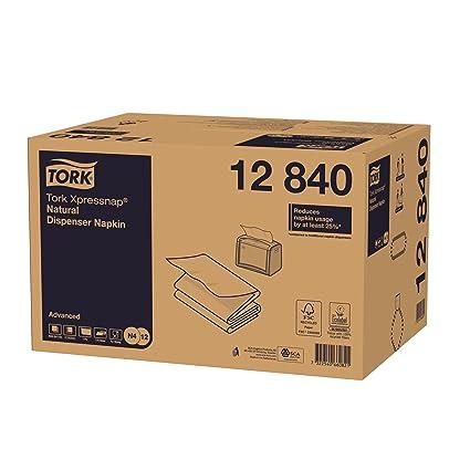 Tork Xpressnap 12840 Servilleta reciclada/Recambios para el sistema N4 servilletero / 8 paquetes/Color natural: Amazon.es: Industria, empresas y ciencia