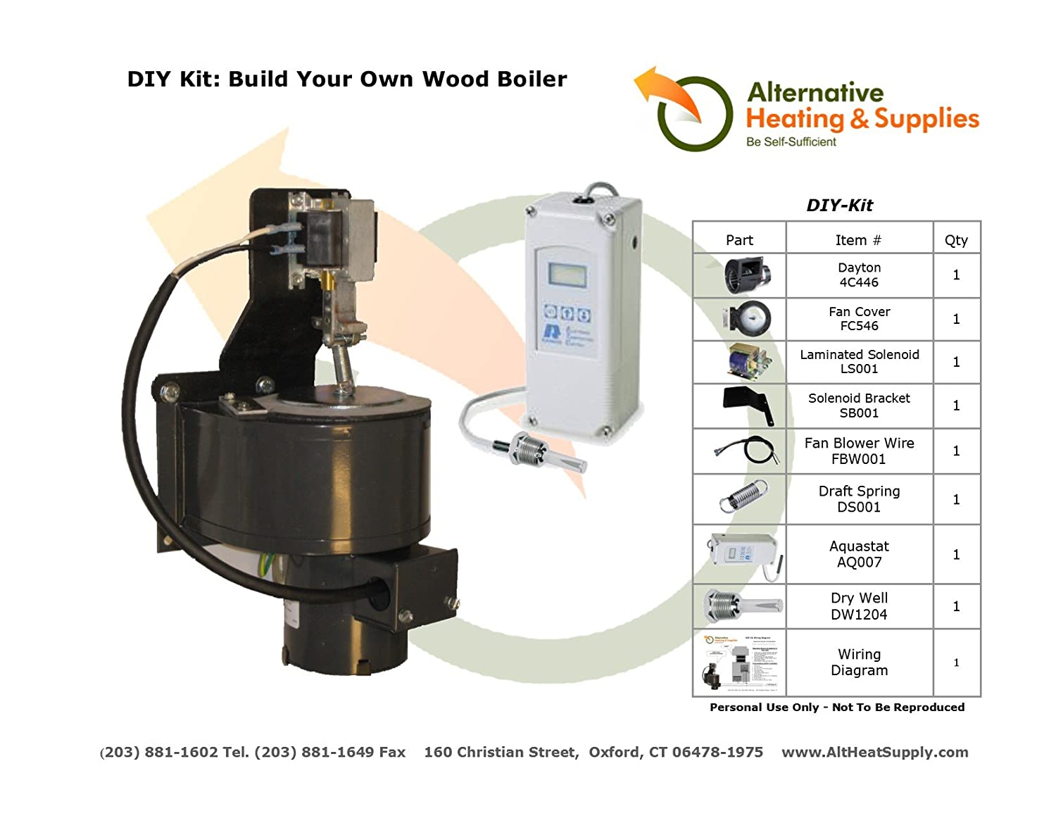 DIY Kit- Build Your Own Wood Boiler or Furnace - - Amazon.com