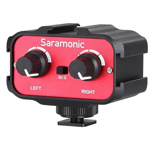 2 opinioni per Saramonic SR-AX100 Microfono Adattatore Audio a due canali per DSLR Fotocamere e