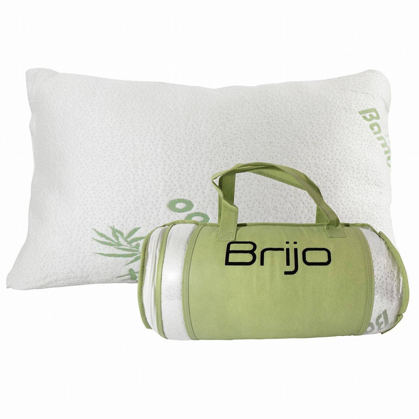 Bamboo Shredded Memory Foam Pillow- Reduce or Eliminate Neck, Back and Shoulder Pain
