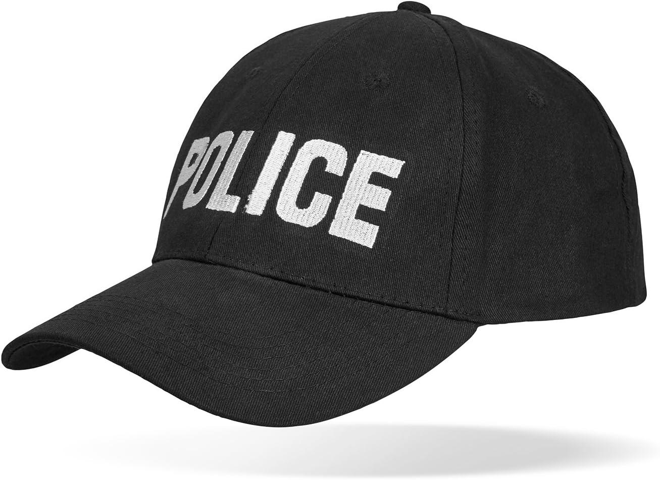 Black Snake SWAT FBI Security Police Baseballcap gr/ö/ßenverstellbar durch Clipverschluss
