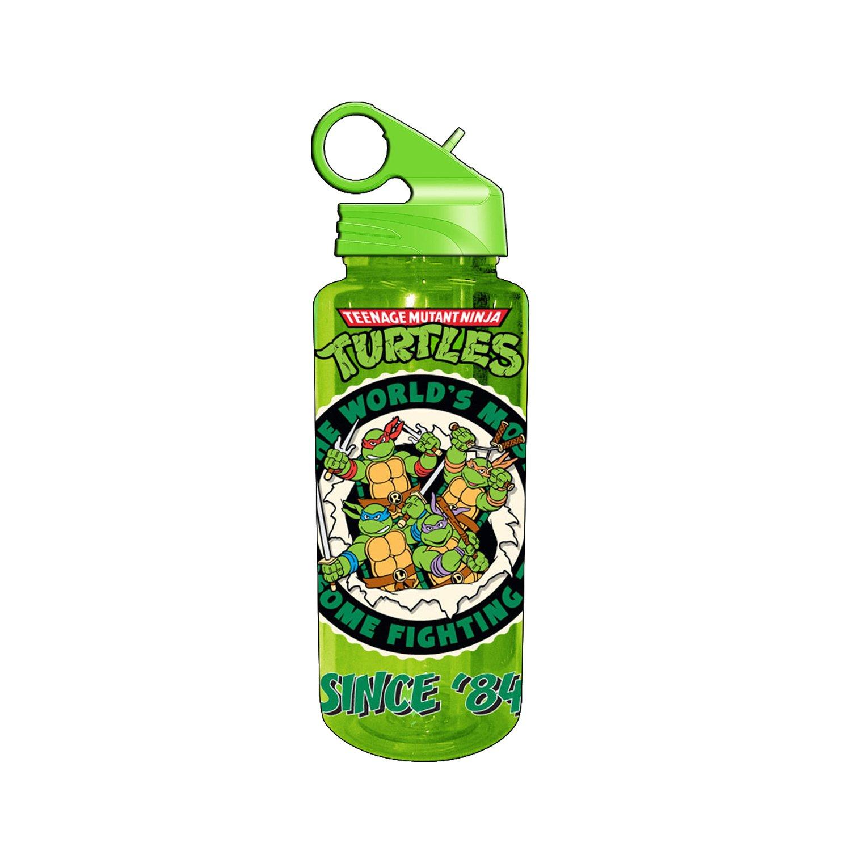 Teenage Mutant Ninja Turtles Silver Buffalo NT6789 Nickelodeon Since '84 Tritan Water Bottle, 20-Ounces