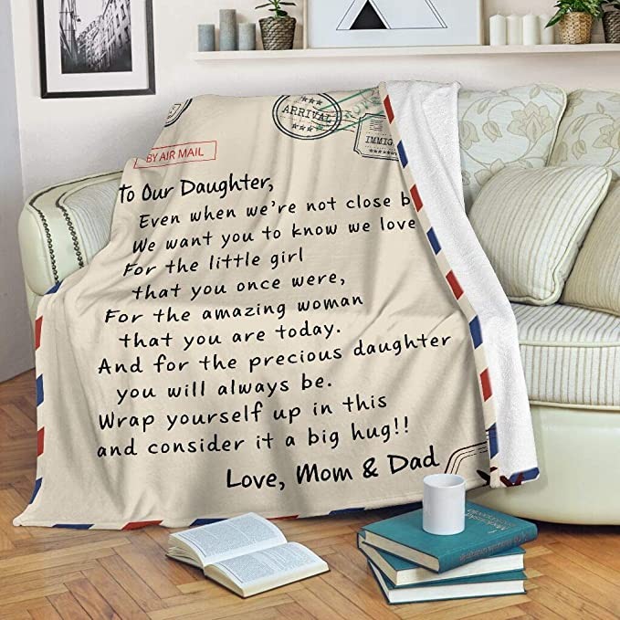 Mom /& Dad To Daughter May You Alway Know That You Are Strong Sofa Fleece Blanket
