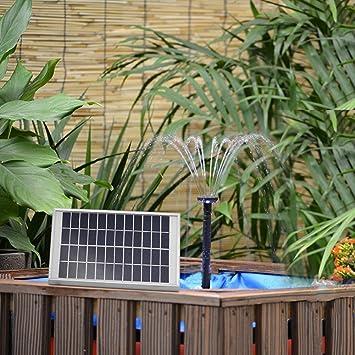5W Fontaine Solaire Jardin Pompe à Eau Solaire Extérieur avec Débit ...