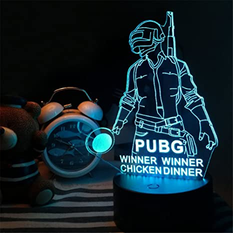 3D PUBG Playerunknown's Battlegrounds Bedroom Lamp Touch 7 Color Change  Night Light LED Desk Table Light Lamp Home Decor