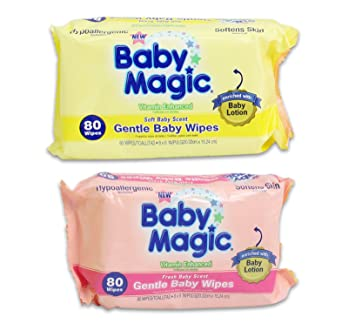 Baby Magic Gentle Baby Wipes Hypoallergenic Multi-Pack of 4 (320 Wipes)