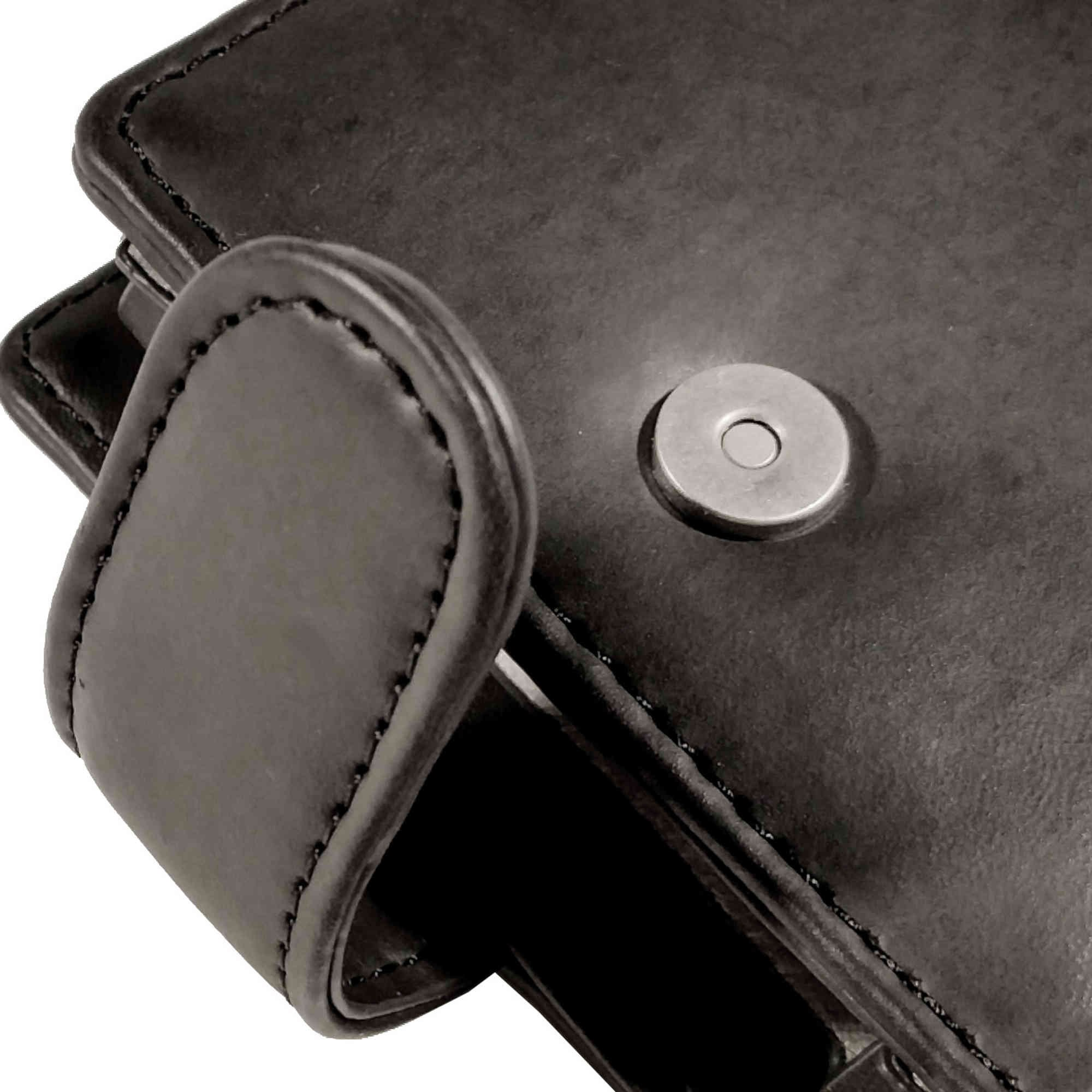 Tuff-luv Genuine Western Leather Case Cover for Cowon Plenue D - MP3 - Black by Tuff-luv (Image #2)