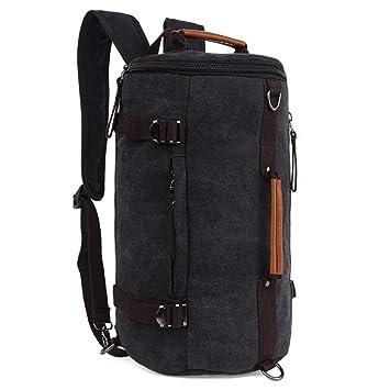 Fresion Mens Backpacks Shoulder Rucksack Bookbag Satchel Hiking Duffle Bag  for Outdoor Sports (Black)  Amazon.co.uk  Luggage bb7b19a204837