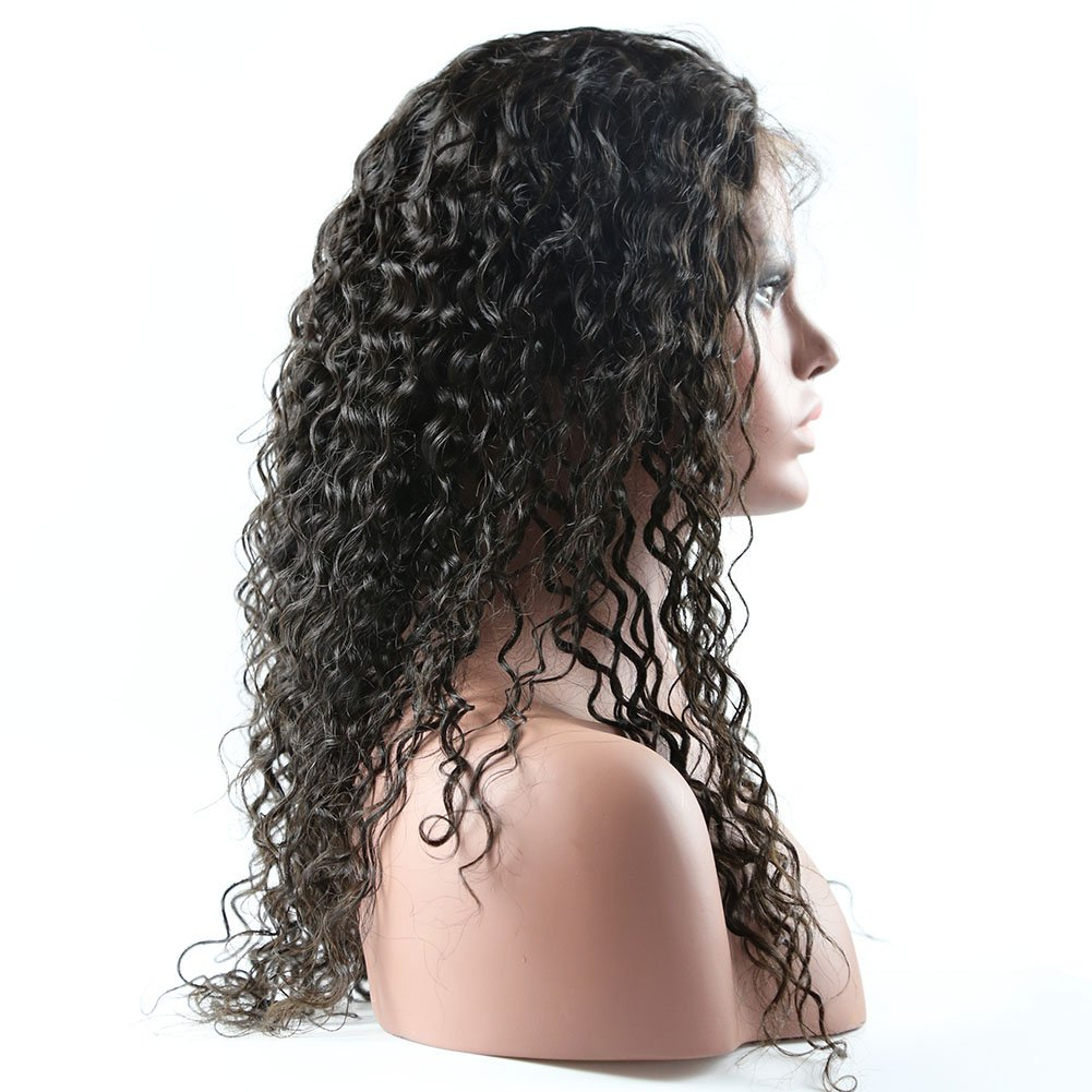 Curly Human Hair Lace Front Wigs 130% Density Brazilian Virgin Loose Deep Curly Wig with Baby Hair for Black Women 18Inch by Formal Hair (Image #3)
