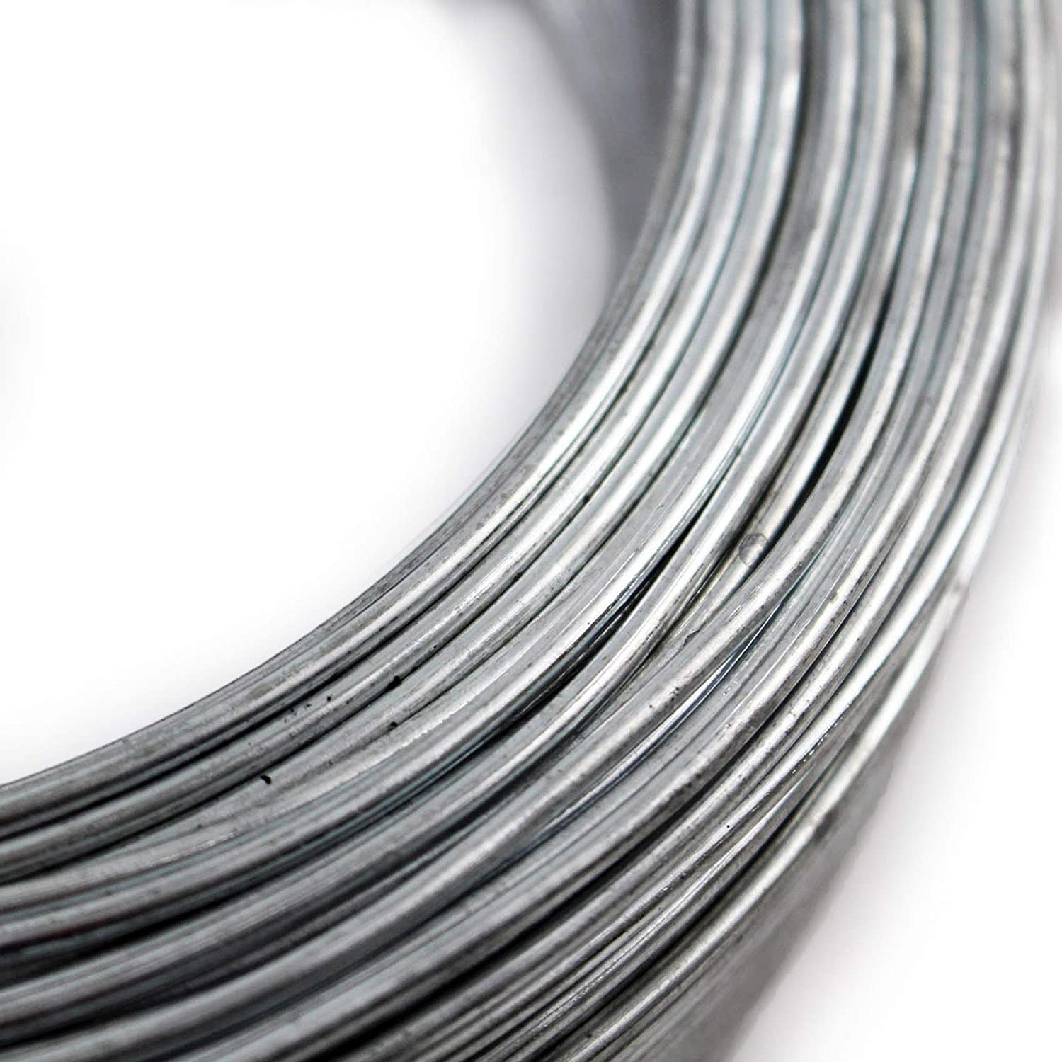 Easipet Tension Straining Wire for fencing, 100m x 2.5mm Wire (1 ...
