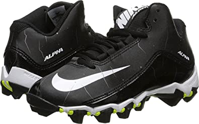 new concept 7ff8b bd869 Nike Boy s Alpha Shark 2 3 4 Wide Football Cleat Black Anthracite White