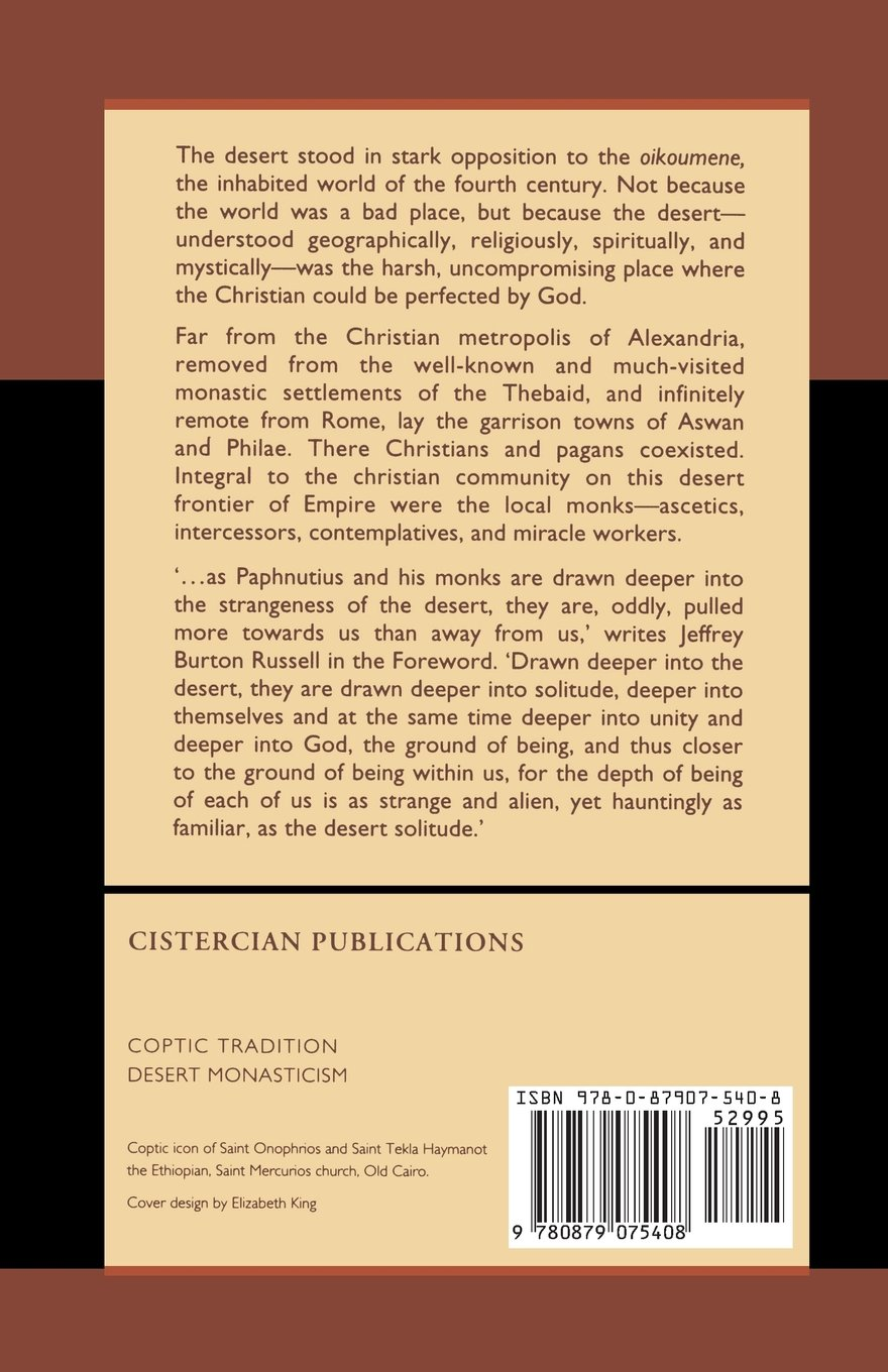 Histories of the Monks of Upper Egypt and the Life of Onnophrius (Cistercian Studies)