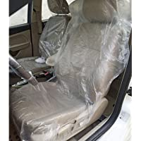 awagas 100PCS Ultra-thick 20g Disposable Plastic Car Seat Covers Universal Clear Vehicle Seat Protector Car Chair Covers…