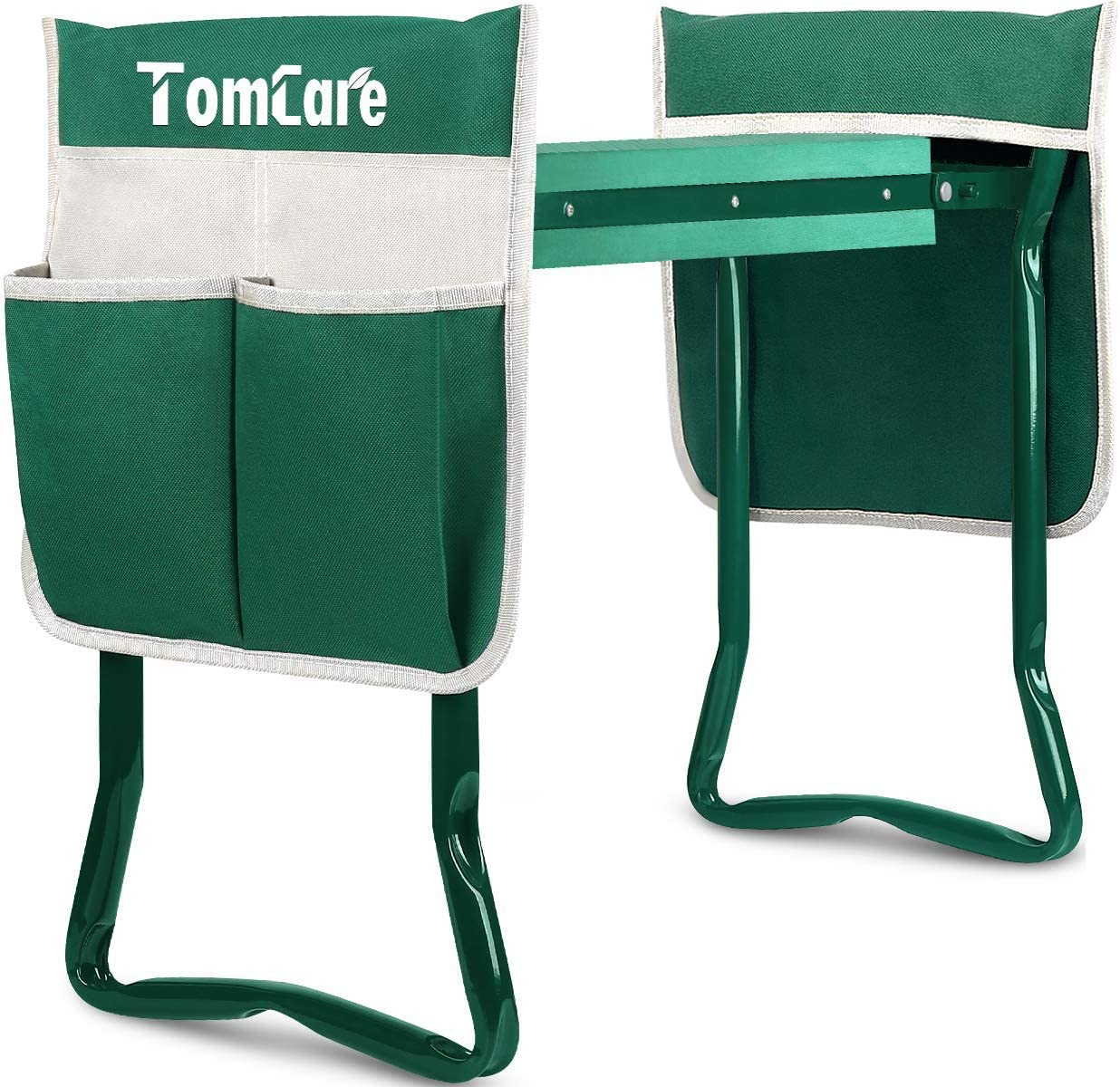 TomCare Garden Kneeler Seat with 2 Large Tool Pouches
