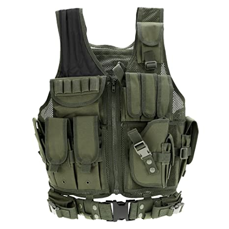 Combat Airsoft Lixada Outdoor Military Breathable For FansCs War Tactical HuntingFishingArmy GameSurvival Adjustable Vest Training SUVzMpGq