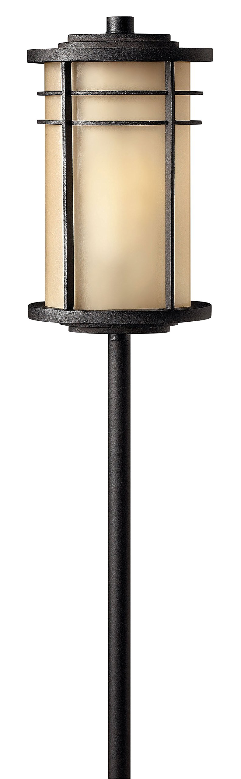 Hinkley Lighting 1516MR Ledgewood Path Light, 18 Watt T5 Wedge Base Light Bulb, Museum Bronze