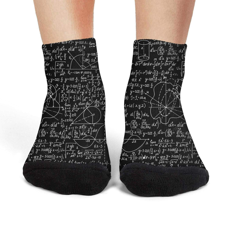 XIdan-die Womens Athletic Crew Socks Math Equations Formulas physic Moisture Wicking Casual Socks