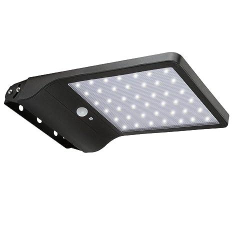 20 W LED Solar Farola, lámparas de pared con detector de movimiento para exteriores,