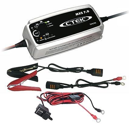 Ctek MXS 7 batería Cargador + Comfort Indicator M8 1,5 m ...