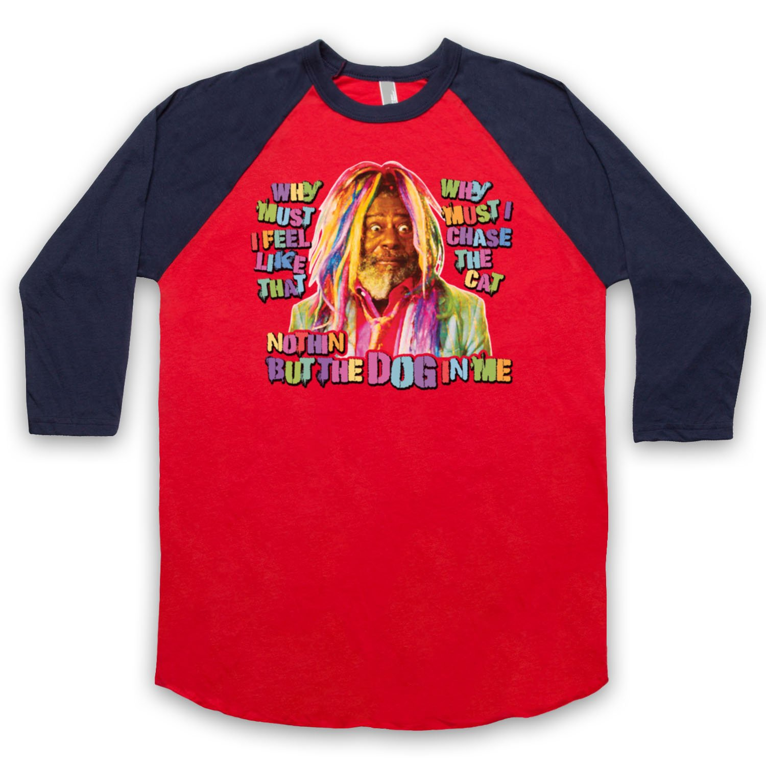 Inspired by George Clinton Atomic Dog Unofficial 3/4 Sleeve Retro Baseball Tee