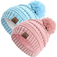Anazalea Baby Benies for Boys and Girls, Infant Toddler Fleece Thermal Knitted Winter Hat