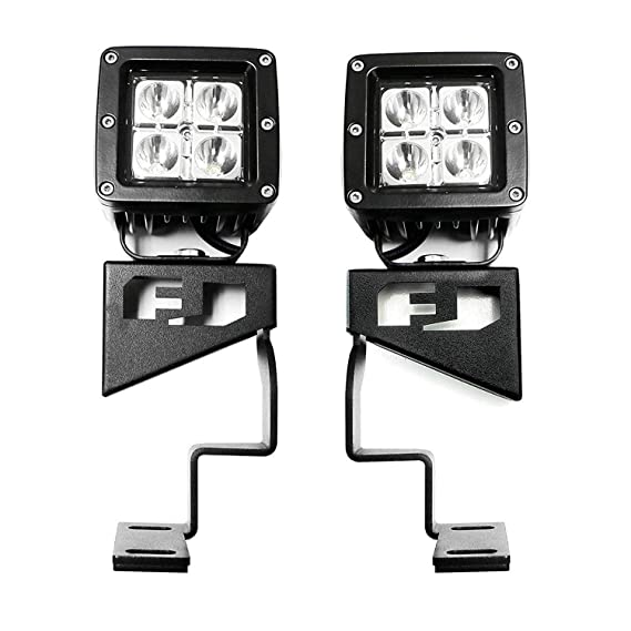 100W Halogen 6 inch -Black Driver side WITH install kit 2008 Volvo VN730-POST Post mount spotlight