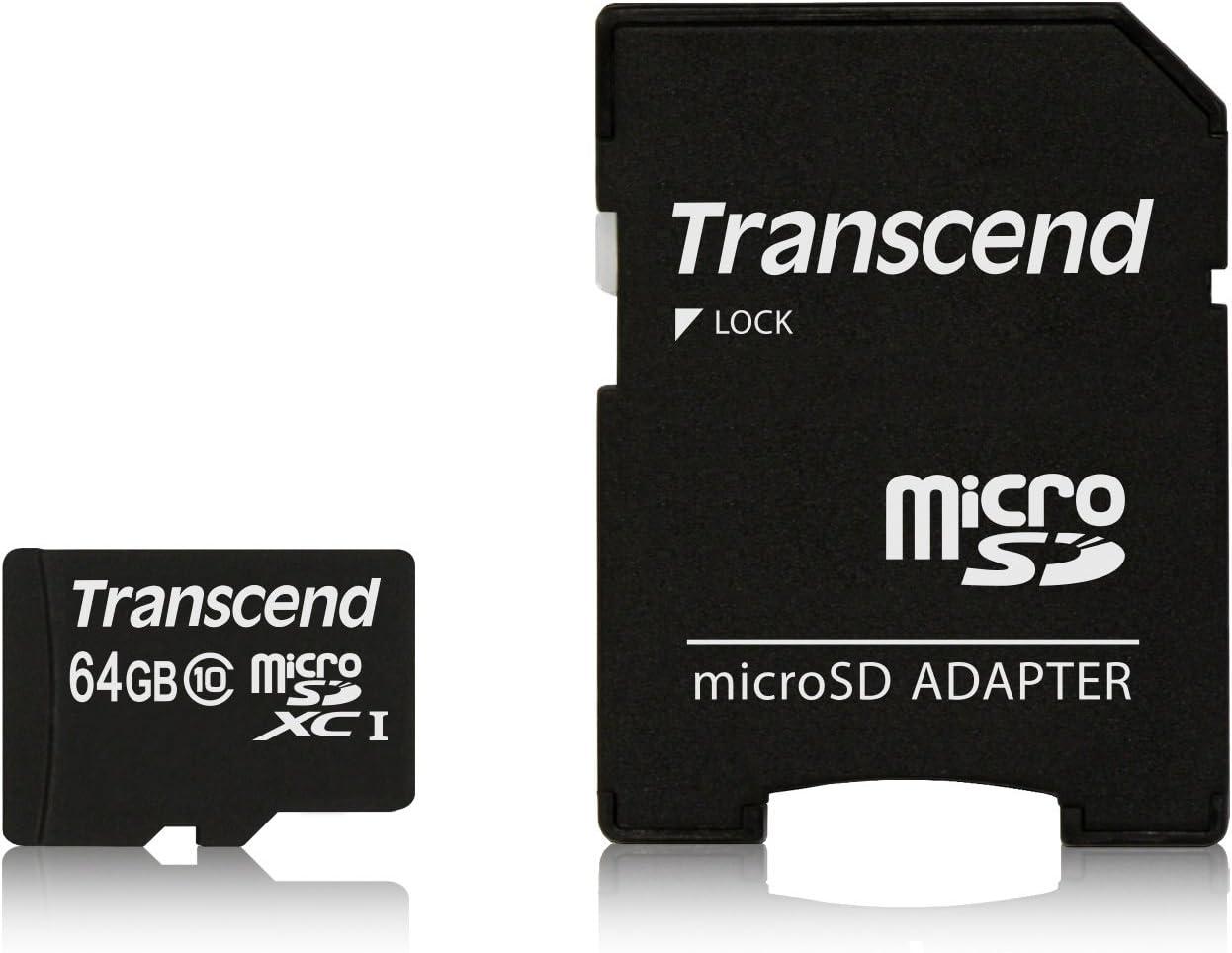 Tarjeta de Memoria 16 GB, MicroSDHC, Clase 10, MLC, 21 MB//s, Negro, Plata Transcend 16GB microSDHC Memoria Flash Clase 10 MLC