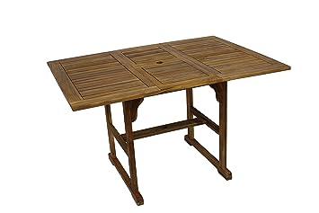 DIVERO GL05527 Klapptisch Balkontisch Gartentisch Esstisch Holz Teak Tisch  Für Terrasse Balkon Wintergarten Witterungsbeständig Behandelt Massiv  Klappbar ...