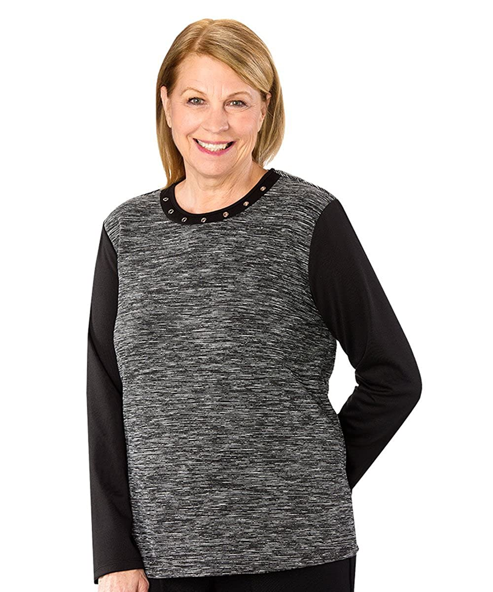 Silverts Disabled Elderly Needs Womens Stylish Adaptive Sweater Silvert' s 23730