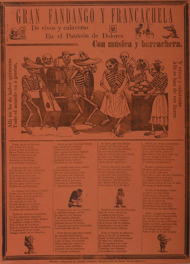 Amazon.com: Berkin Arts Jose Guadalupe Posada Giclee Canvas Print Paintings Poster Reproduction(The Tourist Calavera): Posters & Prints