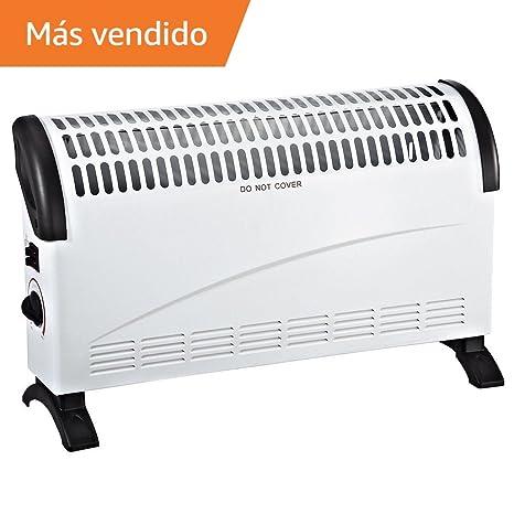 CALEFACTOR ELECTRICO DE 1500W │ESTUFA CONVECCION CON 2 NIVELES DE TEMPERATURA ®