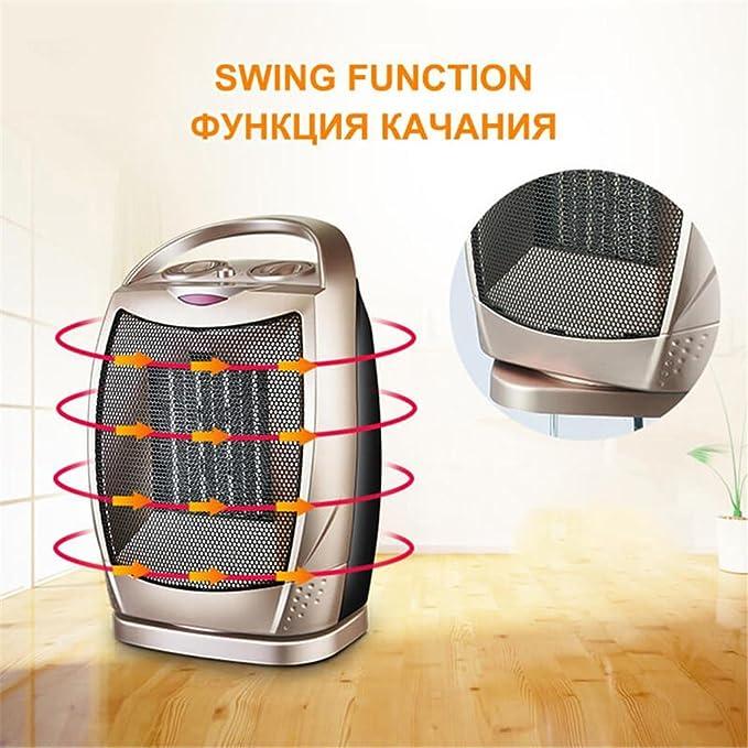 Calefactor Ventilador eléctrico Calentador del Patio 1500W para el Calentamiento de la habitación del Aire casero Dispositivo de la calefacción del hogar ...