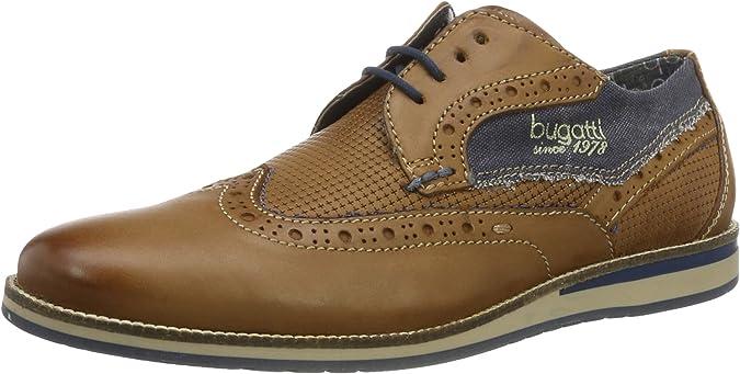 TALLA 43 EU. bugatti 311256011000, Zapatos de Cordones Derby para Hombre