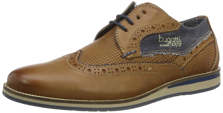 TALLA 44 EU. Bugatti 311256011000, Zapatos de Cordones Derby para Hombre